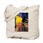 Cafe & Newfoundland Tote Bag