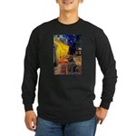 Cafe & Newfoundland Long Sleeve Dark T-Shirt