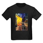 Cafe & Newfoundland Kids Dark T-Shirt