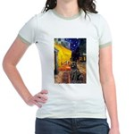 Cafe & Newfoundland Jr. Ringer T-Shirt