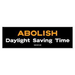 Abolish Daylight Saving Time sticker