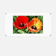 Red and Orange Tulip Banner