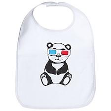 Panda Wearing 3D Glasses Bib