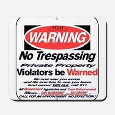 warning sign Mousepad
