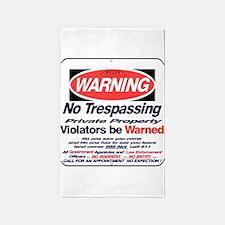 warning sign Area Rug