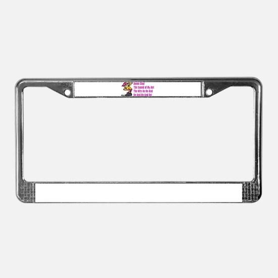 Unique Softball License Plate Frame