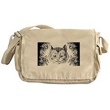 Cheshire Cat Swirls Messenger Bag