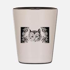 Cheshire Cat Swirls Shot Glass
