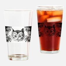 Cheshire Cat Swirls Drinking Glass