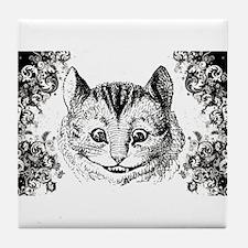 Cheshire Cat Swirls Tile Coaster