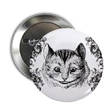 "Cheshire Cat Swirls 2.25"" Button"