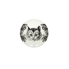 Cheshire Cat Swirls Mini Button
