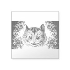 "Cheshire Cat Swirls Square Sticker 3"" x 3"""