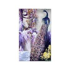 Om Garden Peacock, Doves, Wisteria, golde Area Rug