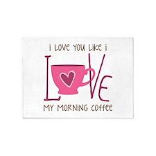 Morning Coffee 5'x7'Area Rug