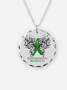 Neurofibromatosis Awareness Necklace Circle Charm