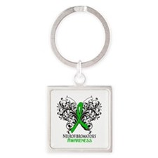 Neurofibromatosis Awareness Square Keychain