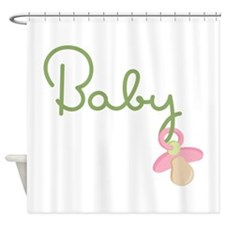 Baby Pacifier Shower Curtain