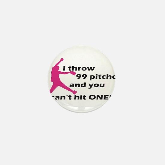 Cute Softball Mini Button