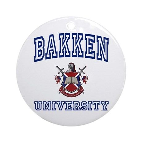BAKKEN University Ornament (Round)