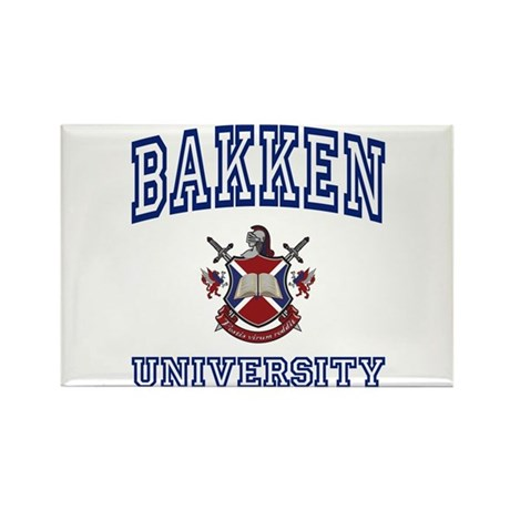 BAKKEN University Rectangle Magnet (100 pack)