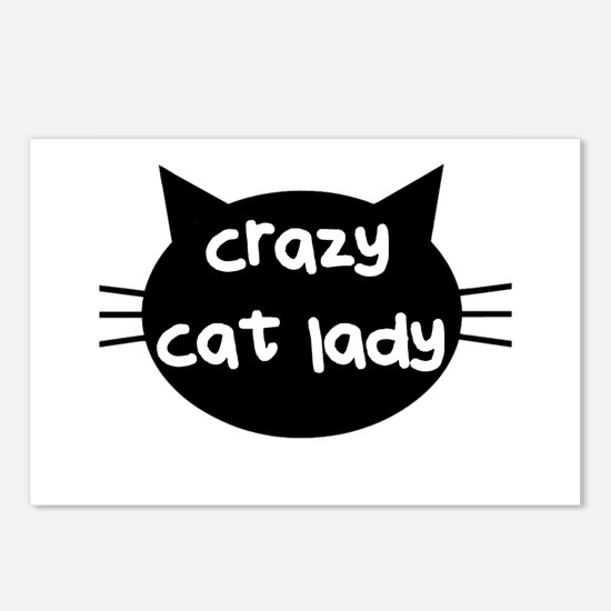 Crazy Cat Lady Postcards (Package of 8)