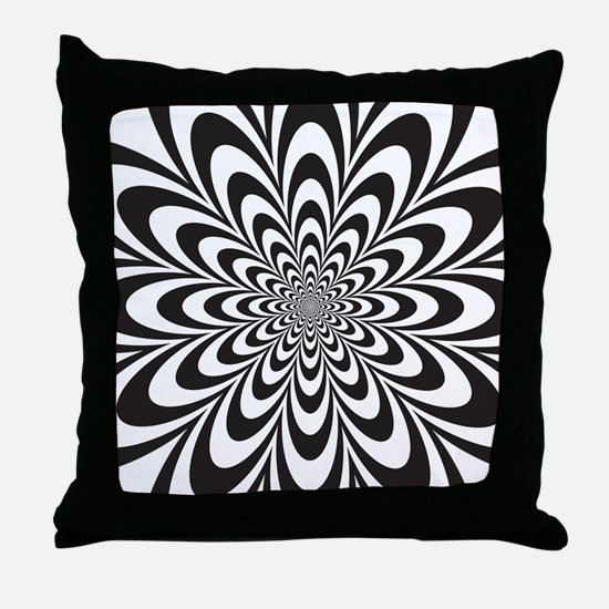 Cute Optical illusions Throw Pillow