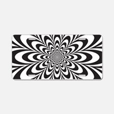 Funny Optical illusion Aluminum License Plate