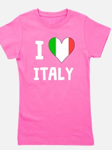 I Heart Italy Girl's Tee