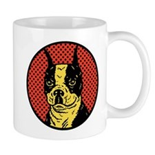 Red Boston Terrier Small Mugs