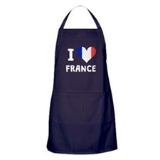 I Heart France Apron (dark)