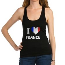 I Heart France Racerback Tank Top