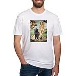 Venus & Newfoundland Fitted T-Shirt