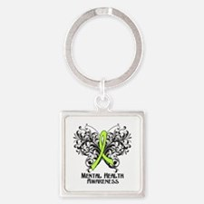 Mental Health Awareness Square Keychain