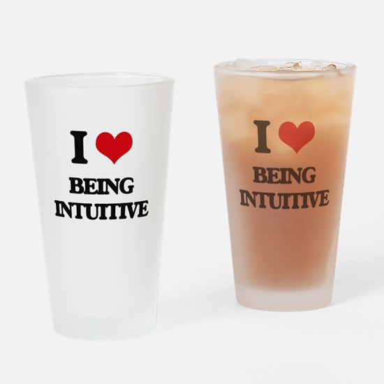 I Love Being Intuitive Drinking Glass