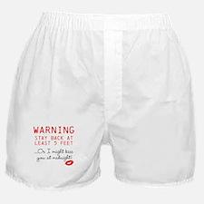 Warning: Midnight Kiss Boxer Shorts