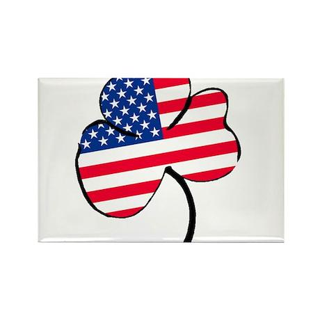 Irish American Rectangle Magnet (100 pack)