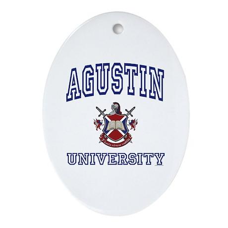 AGUSTIN University Oval Ornament