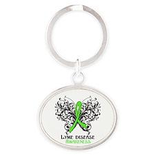 Lyme Disease Awareness Oval Keychain