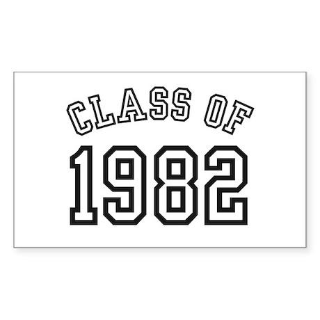 Class of 1982 Rectangle Sticker