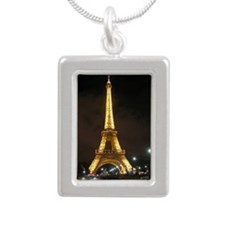 Eiffel Tower At Night In Paris Necklaces