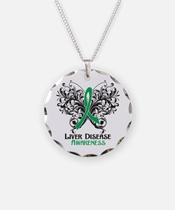 Liver Disease Awareness Necklace