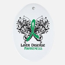 Liver Disease Awareness Ornament (Oval)