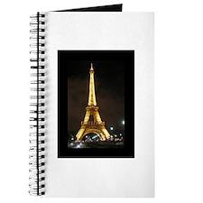 Eiffel Tower, Illuminated At Night Journal