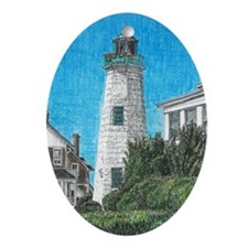 Old Point Comfort Lighthouse Ornament (Oval)
