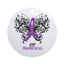 ITP Awareness Ornament (Round)