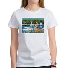 Monet's Sailboats & Welsh Corgi Tee