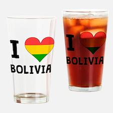 I Heart Bolivia Drinking Glass