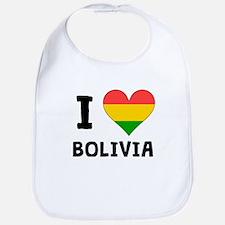 I Heart Bolivia Bib