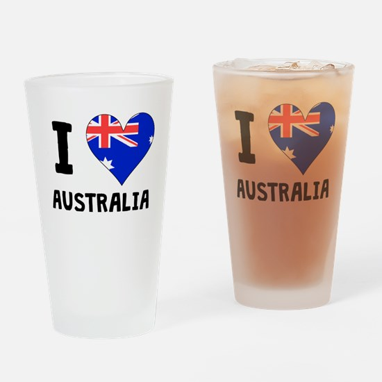 I Heart Australia Drinking Glass